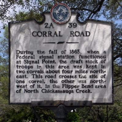Corral Road Marker image. Click for full size.
