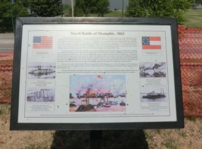 Naval Battle of Memphis, 1862 Marker image. Click for full size.