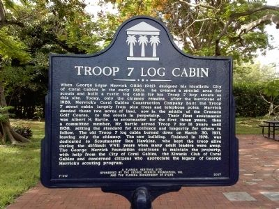Troop 7 Log Cabin Marker image. Click for full size.