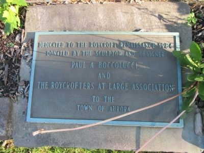The Roycroft Shops Sculpture Plaque image. Click for full size.