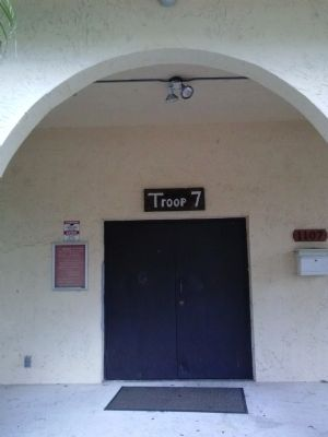 1976 Troop 7 Building front door image. Click for full size.