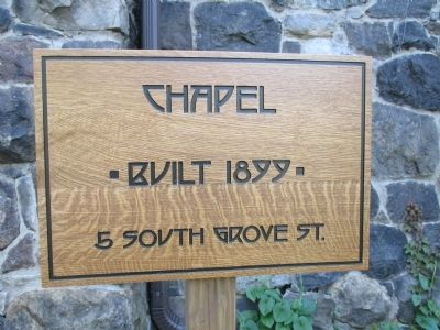The Roycroft Shops Chapel Sign image. Click for full size.