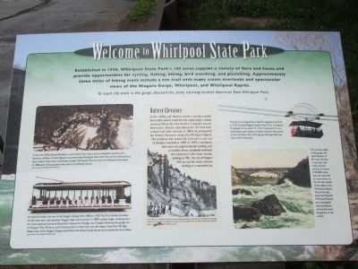 Welcome to Whirlpool State Park Marker image. Click for full size.