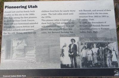 Pioneering Utah Marker image. Click for full size.