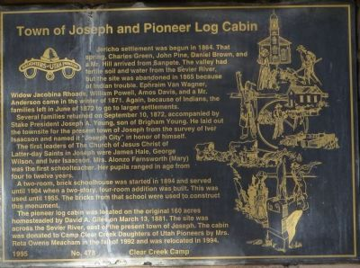 Town of Joseph and Pioneer Log Cabin Marker image. Click for full size.