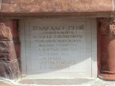 Tennessee Club-Corner Stone image. Click for full size.
