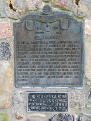 Elsinore Marker image. Click for full size.