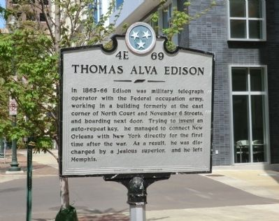 Thomas Alva Edison Marker image. Click for full size.