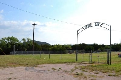 Entrance to Cedar Gap Cemetery image. Click for full size.