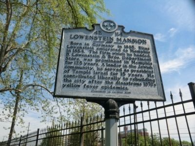 Lowenstein Mansion Marker image. Click for full size.
