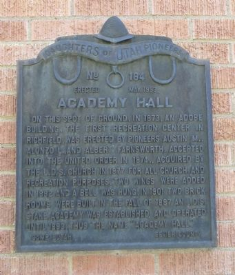 Academy Hall Marker image. Click for full size.