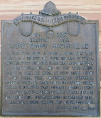 Fort Omni – Richfield Marker image. Click for full size.