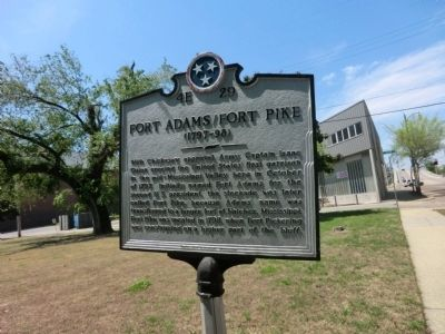 Fort Adams/Fort Pike Marker image. Click for full size.