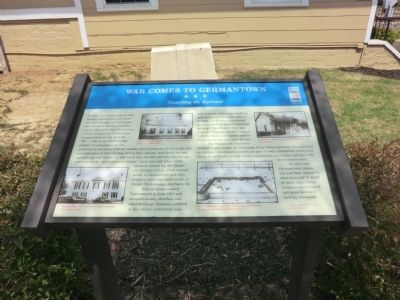 War Comes to Germantown Marker image. Click for full size.
