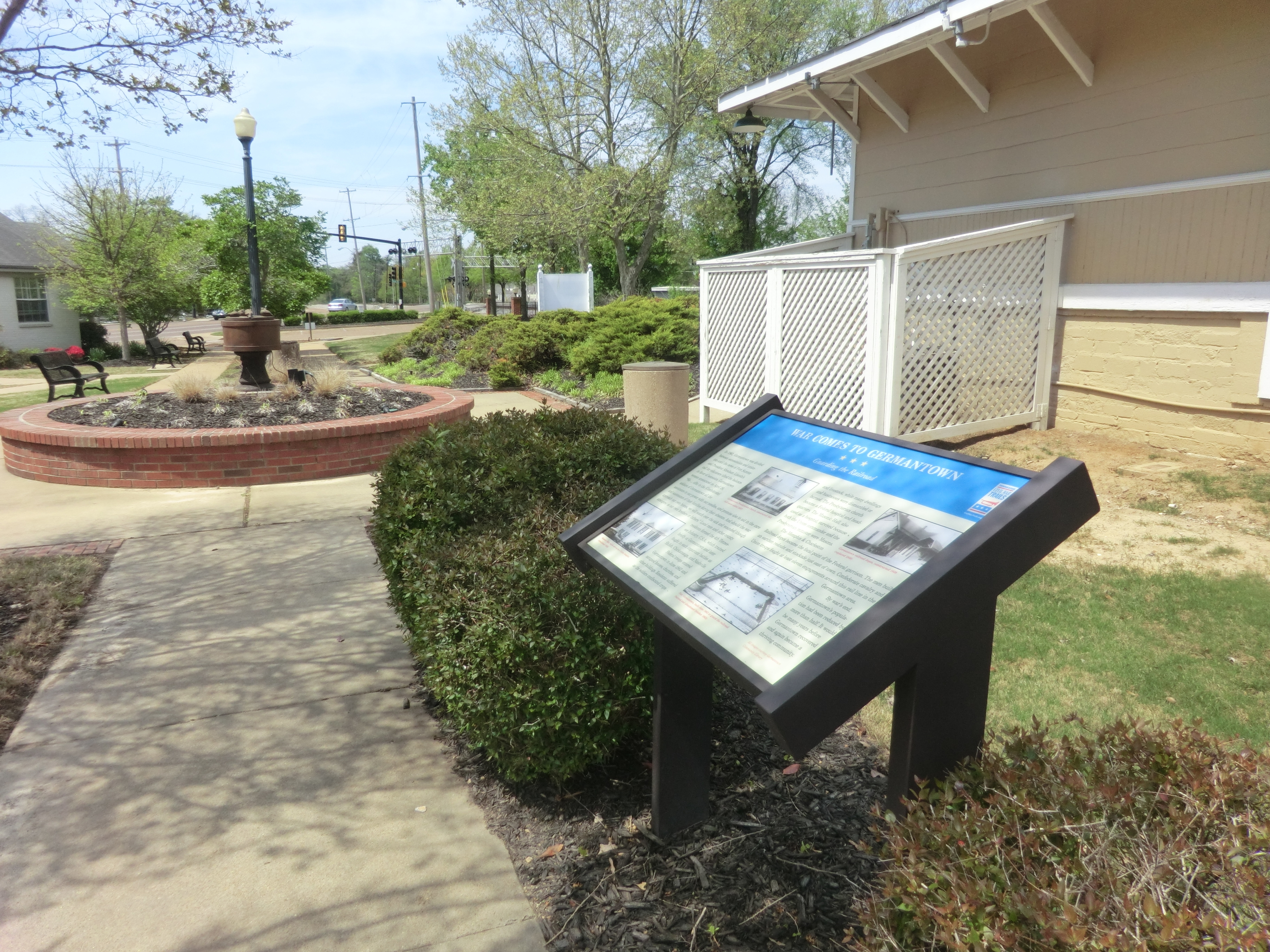 War Comes to Germantown Marker