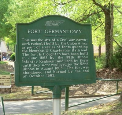 Fort Germantown Marker image. Click for full size.