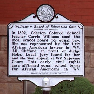 <i>Williams v. Board of Education Case</i> Marker image. Click for full size.