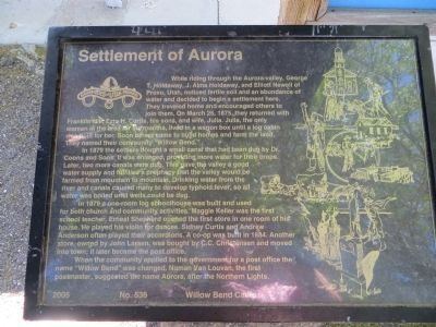 Settlement of Aurora Marker image. Click for full size.