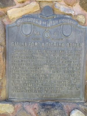 Salina Fort & Tithing Office Marker image. Click for full size.