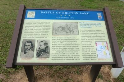 Battle of Britton Lane Marker image. Click for full size.
