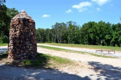 NYA Stone Marker<br>and KS-MO-OK Tripoint Monument image. Click for full size.