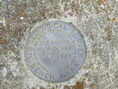 Geneva College Marker USGS image. Click for full size.