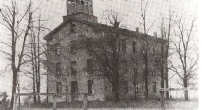 Geneva College building, from LCHS image. Click for full size.