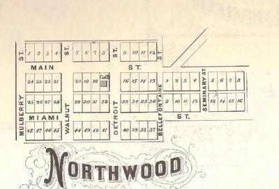 plat map of Northwood or West Geneva, Ohio image. Click for full size.