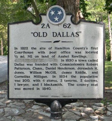 """Old Dallas"" Marker image. Click for full size."
