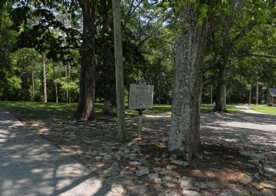 "Wide view of the ""Old Dallas"" Marker image. Click for full size."