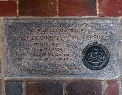 Fairfax Time Capsule image. Click for full size.