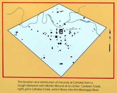Location and Distribution of Mounds at Cahokia image. Click for full size.