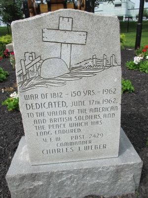 War of 1812 Cemetery 150 years Marker image. Click for full size.