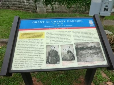 Grant at Cherry Mansion Marker image. Click for full size.