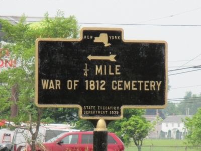 War of 1812 Cemetery Directional Marker image. Click for full size.