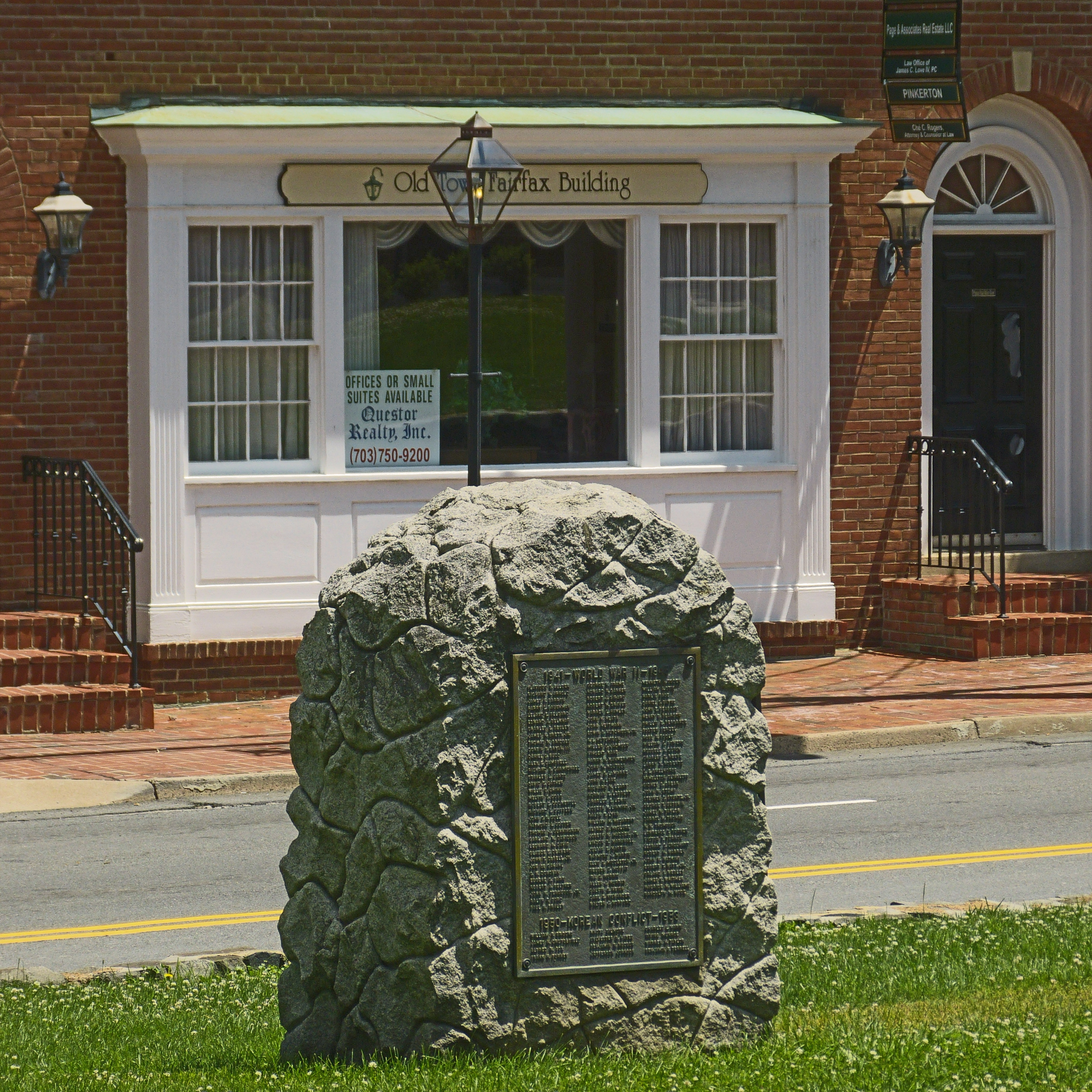A Tribute to The Men of Fairfax County Marker