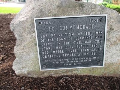 Civil War Commemoration Plaque image. Click for full size.
