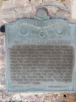 First Public Buildings Marker image. Click for full size.
