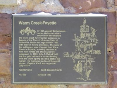 Warm Creek-Fayette Marker image. Click for full size.