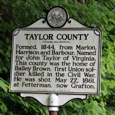 Taylor County Face of Marker image, Touch for more information