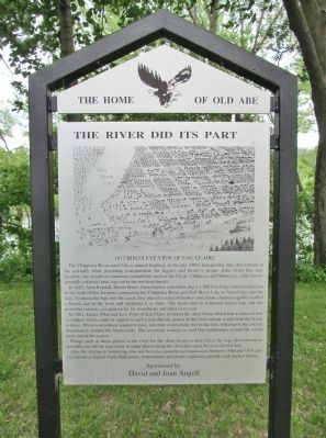The River Did Its Part Marker image. Click for full size.