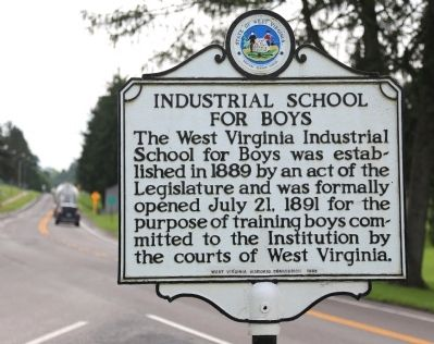 Industrial School for Boys Marker image. Click for full size.