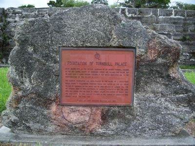 Former Marker: Foundation of Turnbull Palace image. Click for full size.