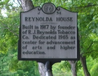 Reynolda House Marker image. Click for full size.