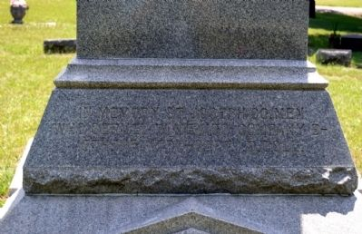 Rear Panel of Monument image. Click for full size.