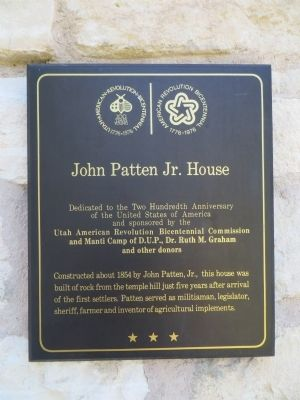 John Patten Jr. House Marker image. Click for full size.