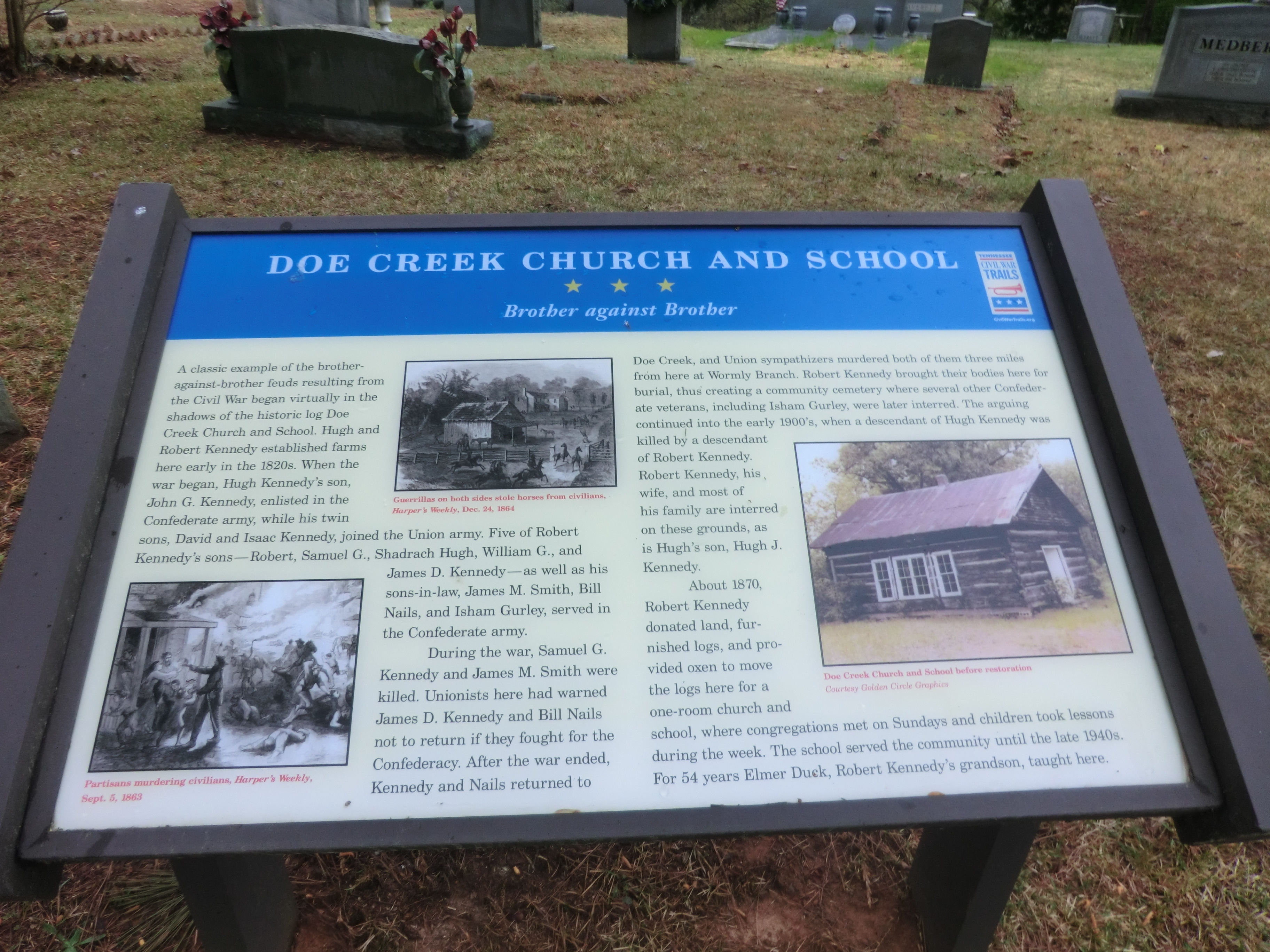 Doe Creek Church and School Marker