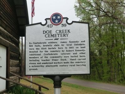 Doe Creek Cemetery Marker image. Click for full size.