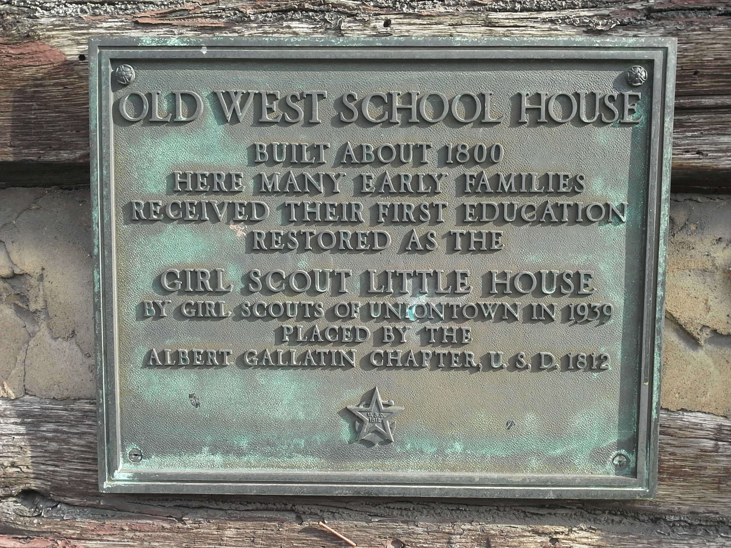 Old West School House Marker