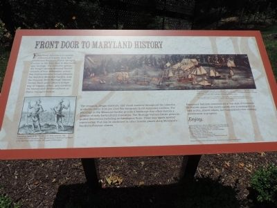 Front Door to Maryland History Marker image. Click for full size.